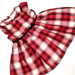 Carter's Infant Dress Cap Sleeve Red Plaid 12 mo